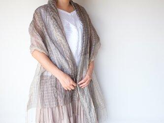 手織りシルクストール【紗月*03】の画像