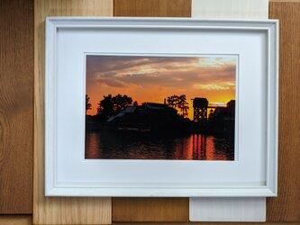風景写真 A4 取水塔の画像