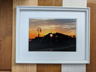 風景写真 A4 夕焼け帰り道の画像