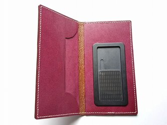 iPHONE11用 手帳型本革ケース 総手縫い #51の画像