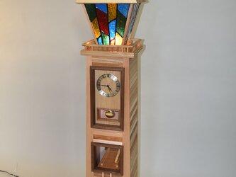 街を照らす時計塔Ⅱ 時計台 振り子時計 ランプの画像