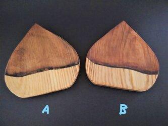 【栗】トレー 小物置き 菓子皿 木彫り コエマツの画像