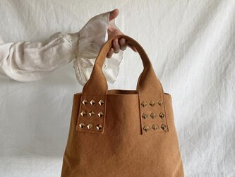 canvas tote bag mini (camel)の画像