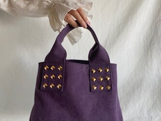 canvas tote bag (purple)の画像