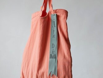 pastel color tote bag (apricot)の画像