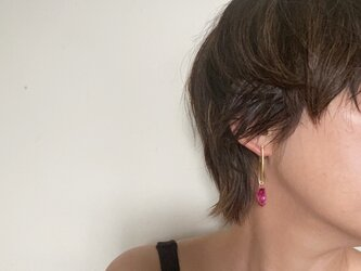 baroque pearl pierce (pink)の画像