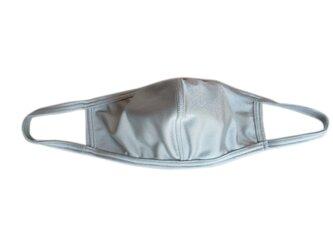 立体シーム・カーブ型無地水着マスク・シルバーグレーの画像