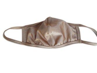 立体シーム・カーブ型無地水着マスク・サンドベージュの画像