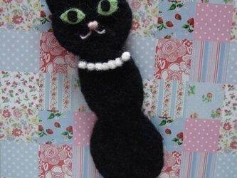 黒猫ちゃんのしおり(パール・Sサイズ)の画像