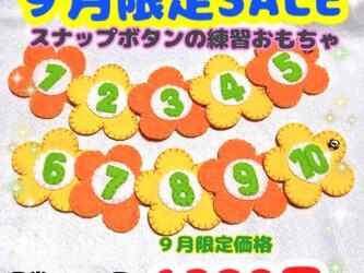 【送料込】9月限定SALE☆スナップボタンの練習☆知育おもちゃの画像