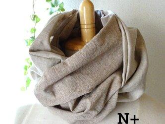 20-15 日本製ベルギーリネン スカーフ風日除けネックウォーマーの画像