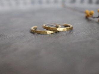 フープピアス(Mサイズ/つちめ)真鍮製の画像