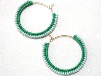twocolors フープピアス(緑&アイスグリーン)の画像