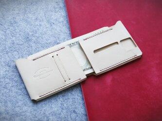 【切線派】免許証入れ・超薄手作り二つ折り財布の画像