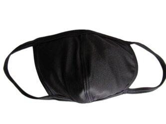 立体シーム・フラット型無地水着マスク・ブラックの画像
