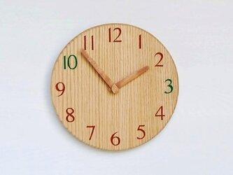 直径24.0cm おやつ時計 オーク【2027】の画像