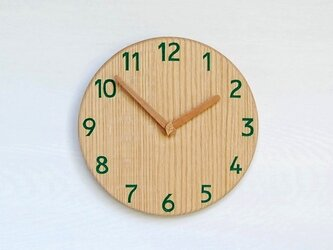 直径24.0cm 掛け時計 オーク【2028】の画像