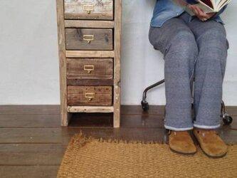 数量限定 FC-5 チェスト 収納棚 サイドチェス  シェルフ 古材 書類棚 ドキュメントシェルフ 真鍮取手の画像