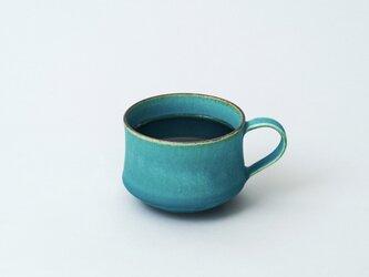スタッキングできるマグカップ コーヒーカップ(ターコイズブルー/トルコ青)の画像