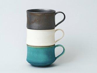 【受注生産】スタッキングできるマグカップ コーヒーカップ  3色セットの画像