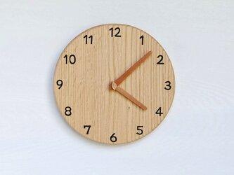 直径24.0cm 掛け時計 オーク【2029】の画像