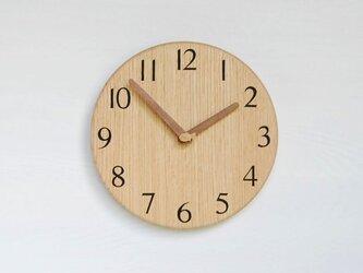 直径24.0cm 掛け時計 オーク【2030】の画像