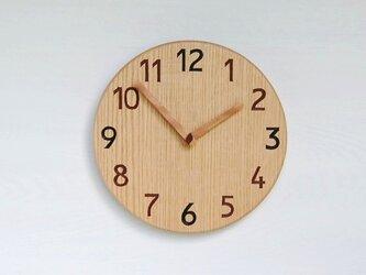 直径26.0cm 掛け時計 オーク【2031】の画像