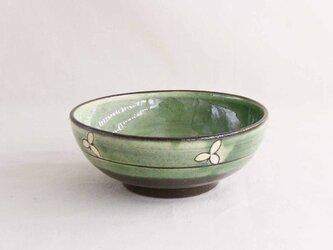 エンレイソウ線描花小鉢(織部)の画像