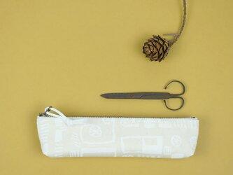 pouch 185G アイボリー×白の画像