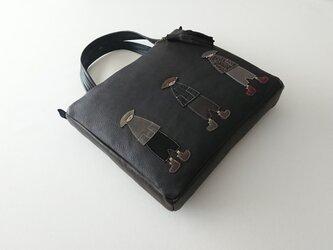 annco leather tote L [black]の画像