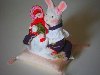 縮緬福兎 お人形 その二の画像
