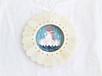 受注制作  水色花箱シリーズ「 7月の霧雨 」ミニ原画の画像