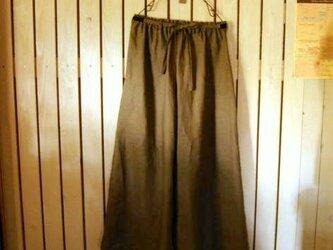 ヨーロッパリネンのロングスカートみたいなワイドパンツの画像