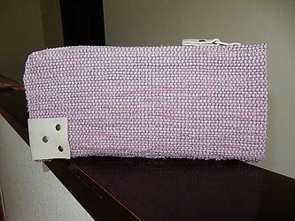 裂き織のL字ファスナーウオレット バイオレットピンクの画像