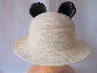 パンダさん耳帽子(54㎝)の画像