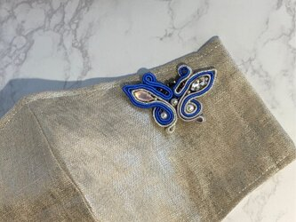 マスクチャーム 蝶(ブルー)の画像