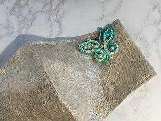 マスクチャーム 蝶(グリーン)の画像