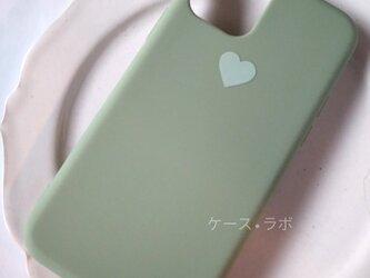 iphoneSE2*スマホケース ハートグリーン iPhoneケース iPhoneXR iPhone11pro iphone11の画像