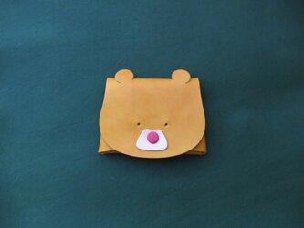 【桃鼻/黄】くまさんの小物入れの画像