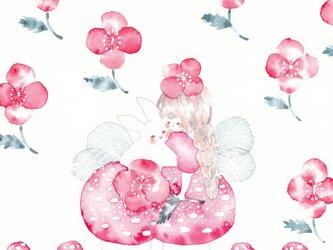 ☆「赤い花咲いた日」ポストカード2枚セットの画像