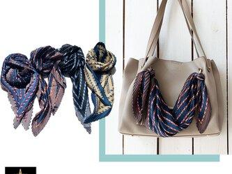 バッグに巻いたり結んだり♪NOLITA プリーツバッグスカーフ c656の画像