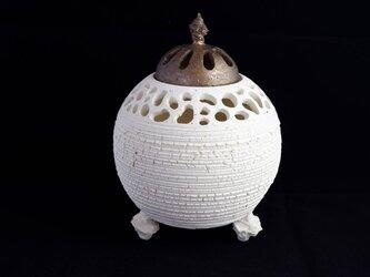 珊瑚砂裂紋香炉・ポプリケース1の画像