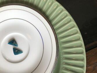 穴あきキット ナチュラル アパタイトイヤリングピアス・ノンピアス用ペア+金具キット  非加熱 ナチュラル 20.06 カラットの画像