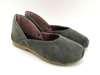 ROUND shoes #micro-fiber #受注製作の画像