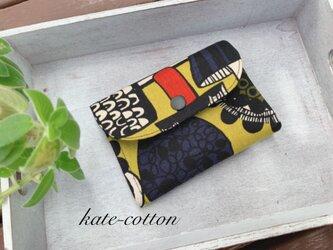■ミニ財布⭐︎北欧風・きのこ柄☆マスタード☆サウスポーの人にも!の画像