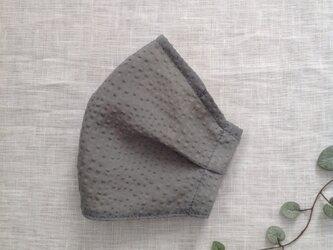 オーガンジーワッフルのタックマスク ( グレー )   * 送料無料 *の画像