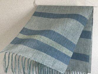 手織りストール A46の画像
