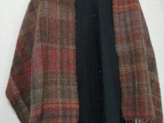 手紡ぎ手織りストール #3の画像