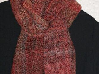 手紡ぎ手織りマフラー #7の画像