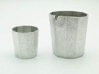 錫製 片口とぐい呑(十面) セットの画像